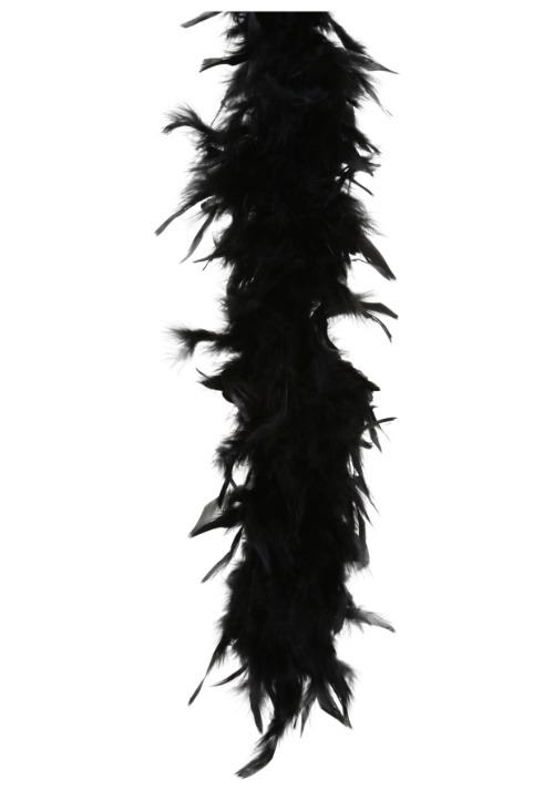 80 Gram Black Feather Boa