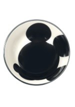 Mickey Mouse Silhouette Tidbit Bowl Inside