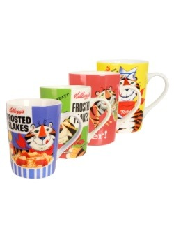 Kelloggs Tony the Tiger 4pc Mug Set