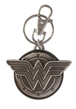 Pewter Wonder Woman Keychain