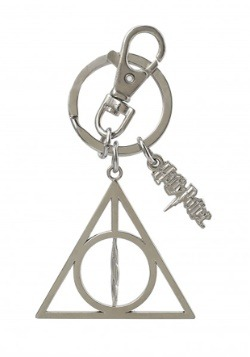 HP Deathly Hallows Pewter Keychain