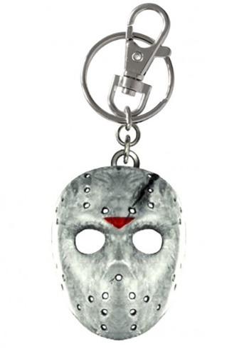 Jason Mask Pewter Keychain