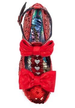 Irregular Choice Red Total Freedom Sequins & Heart Heels Alt