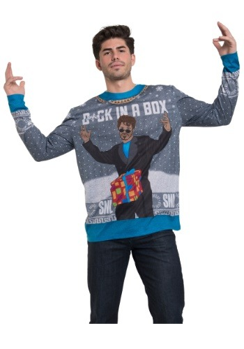SNL D*CK In a Box Long Sleeve Ugly Christmas Tee