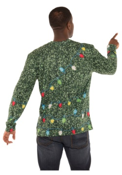 Sequin Suit with Lights Long Sleeve Ugly Christmas T-Shirt2