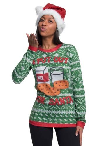 I Put Out for Santa Long Sleeve Ugly Christmas Tee