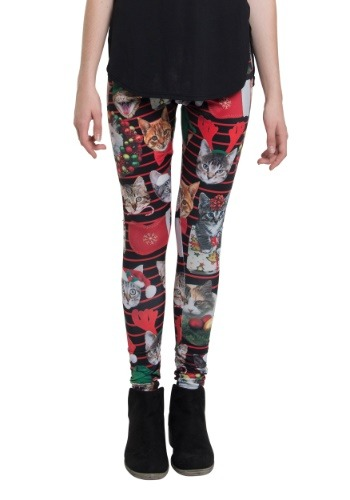 Holiday Christmas Catxmas Leggings