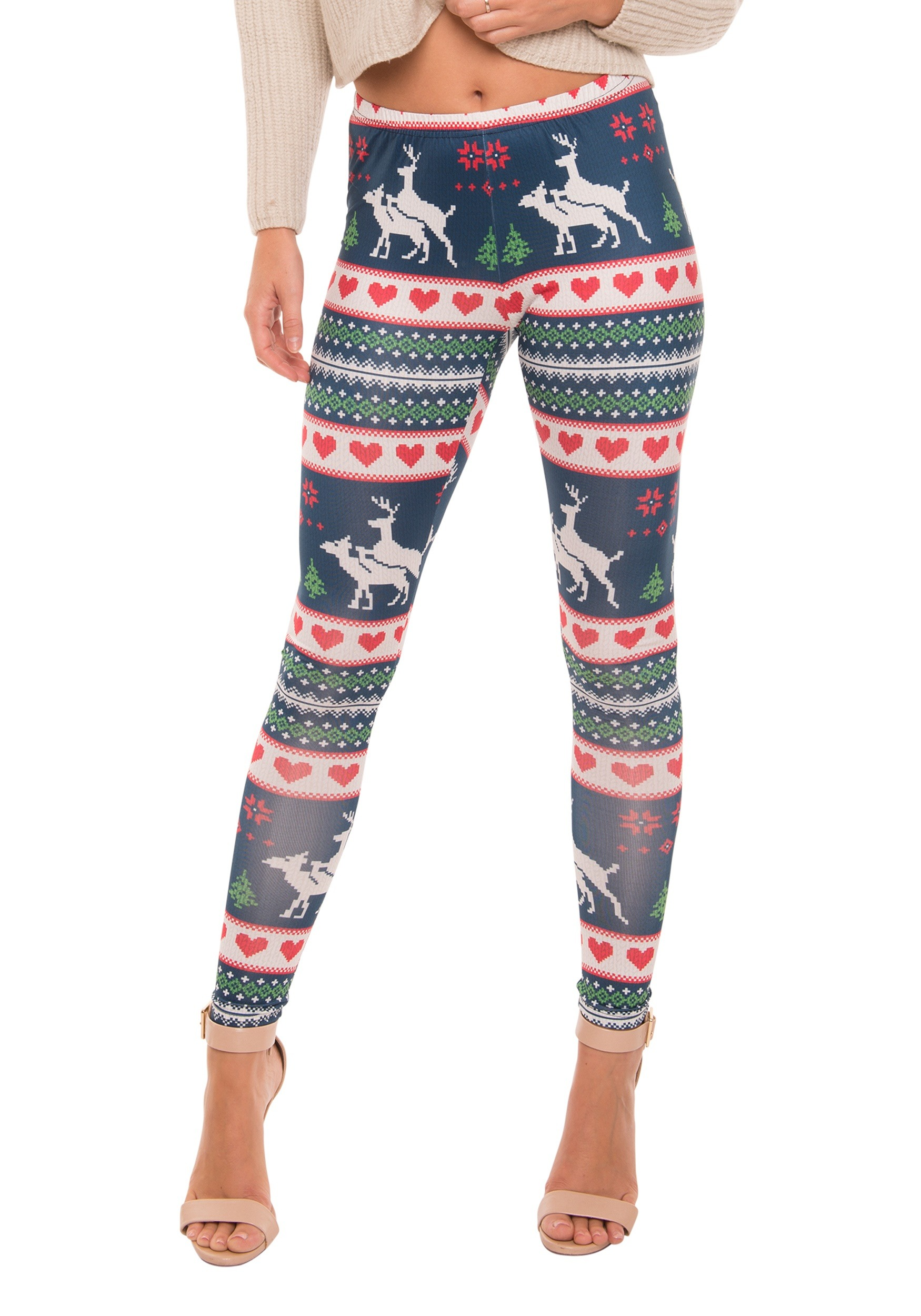 7124458aeb4ca7 Humping Reindeer Ugly Christmas Sweater Leggings