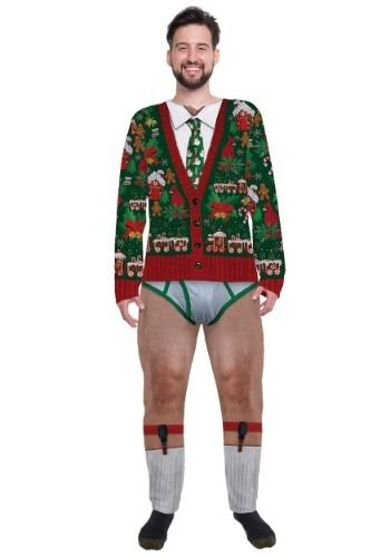 Christmas Cardigan Men's Jumpsuit