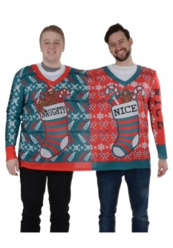 Naughty & Nice 2 Person Ugly Christmas Tee