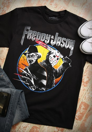 Freddy and Jason Metal Album Men's T-Shirt