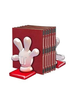 Mickey Hand Bookend