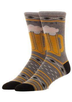 Free Authority Fairisle Beer Holiday Crew Socks1