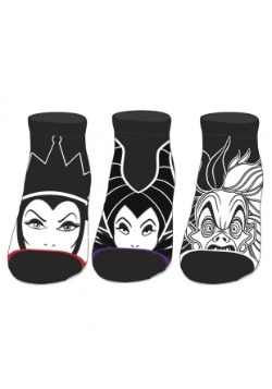 Disney Villains 3 Pack Ankle Socks