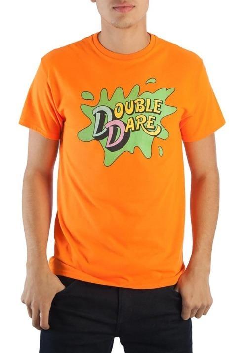 Nickelodeon Double Dare Logo Men's Tangerine T-Shirt