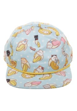 Bananya All-Over Sublimated Print Snapback Hat