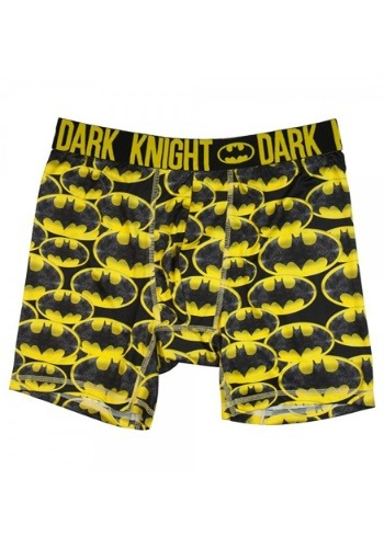 Mens Batman All Over Print Logo Boxer Brief