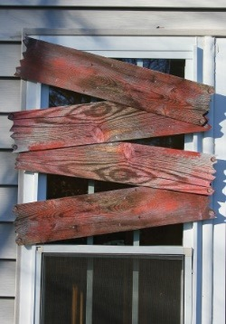 Haunted Window Boards -  Halloween Decoration Blood Stains