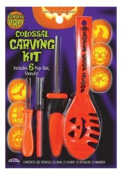 Colossal Pumpkin Carving Kit - 10 Piece