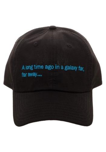 Star Wars A Long Time Ago Crawl Black Dad Hat
