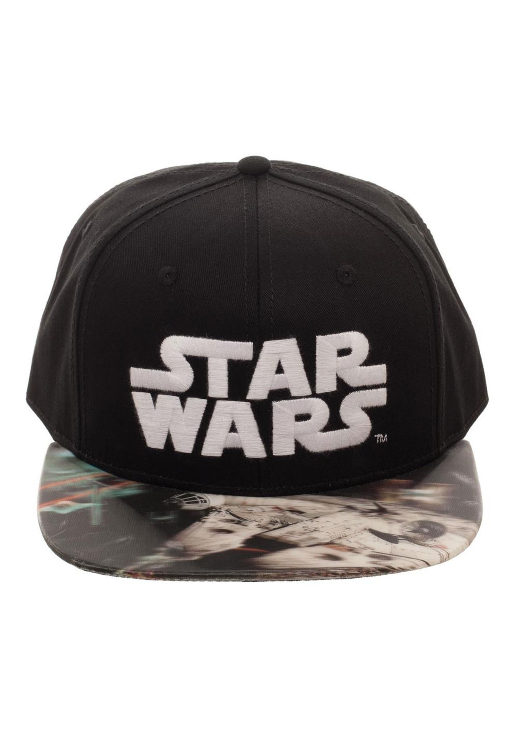 Millennium Falcon Star Wars Lenticular Bill Snapback Hat 0a1820573d