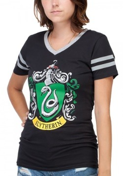 Harry Potter House Slytherin Jr.'s V-Neck Tee