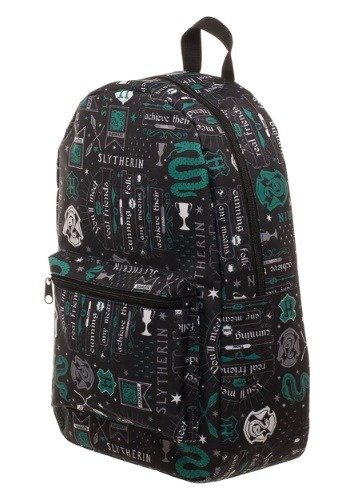 Harry Potter Icon Print Slytherin Backpack
