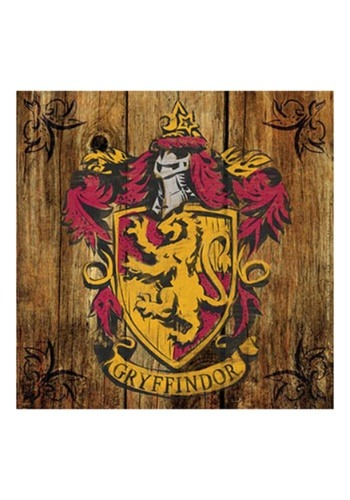 Harry Potter Gryffindor Crest Rustic Sign