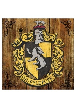 Harry Potter Hufflepuff Crest Rustic Sign