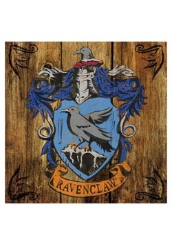 Harry Potter Ravenclaw Crest Rustic Sign