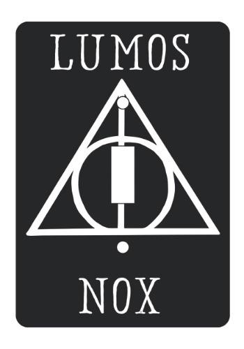 Harry Potter Lumos Nox Light Switch Plate