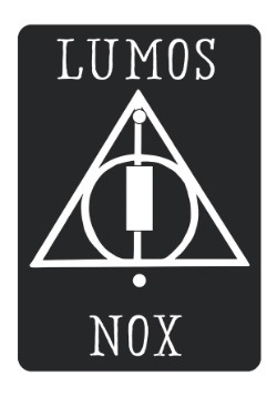 Harry Potter Lumos Nox Light Switch Plate