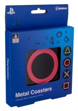 Playstation Metal Coasters Set of 4 2