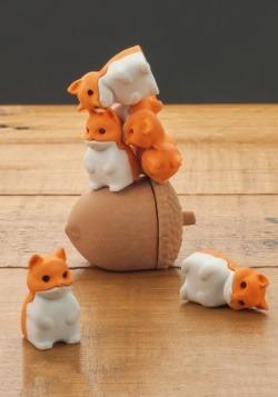 Stacking Squirrels Erasers alt 2