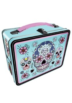 Blue Sugar Skulls Metal Lunchbox