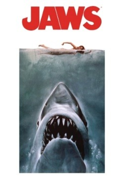 Jaws Poster Beach/Bath Towel