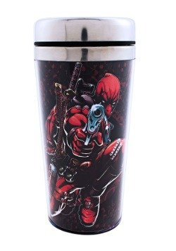 Deadpool Gunpoint 16oz Steel Travel Mug
