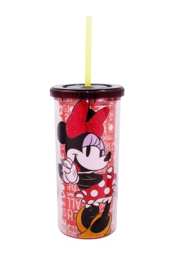 Minnie Mouse Glitter 20 oz Tall Travel Tumbler