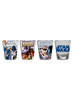 Star Wars Original Trilogy 4 pc Mini Glass Set