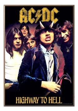 "AC/DC Highway to Hell 13"" x 19"" Wood Wall Décor"