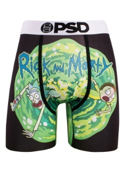 PSD Underwear Rick & Morty Classic Portal Mens Boxer Briefs