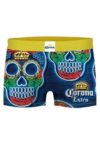 Crazy Boxers Men's Dia de los Muertos Corona Boxer