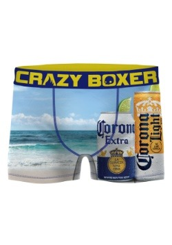 Crazy Boxers Men's Sandy Beach Corona Boxer Briefs