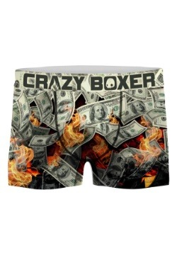 Crazy Boxers Men's Burning Money Boxer Briefs