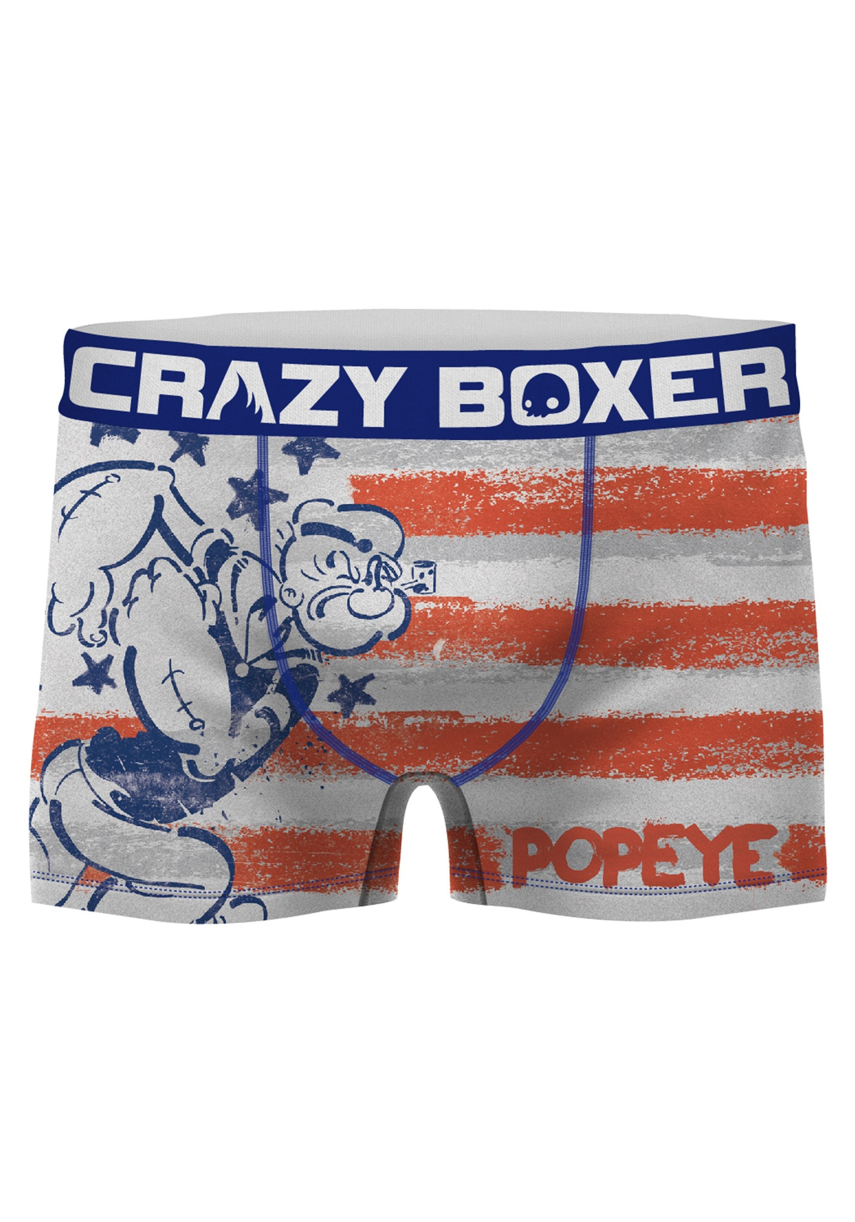 e95caa247ee Men s Crazy Boxers Popeye American Flag Boxer Brief