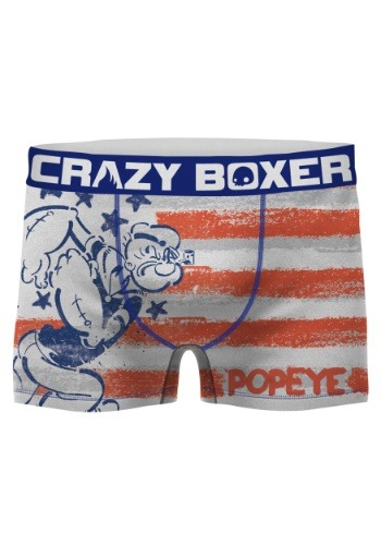 Crazy Boxers Men's Popeye American Flag Boxer Brief