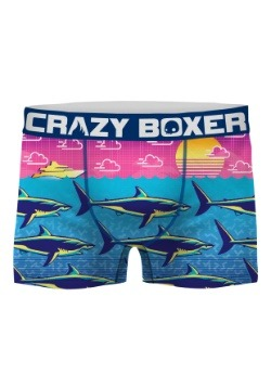 Crazy Boxers Men's Shark Week Neon Print Boxer Briefs