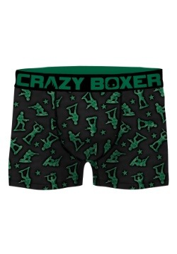 Crazy Boxers Men's Green Army Man Boxer Briefs