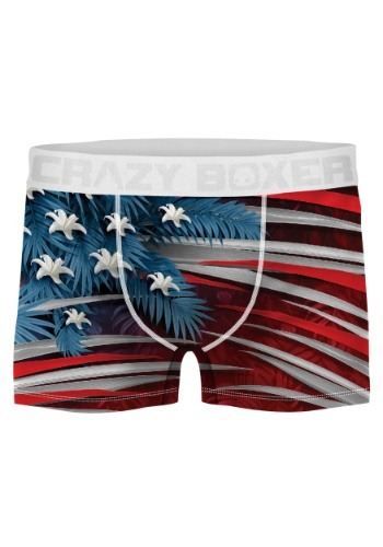 Crazy Boxers Men's Tropical American Flag Boxer Briefs