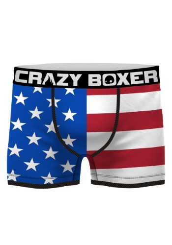 Crazy Boxers Men's American Flag Boxer Briefs